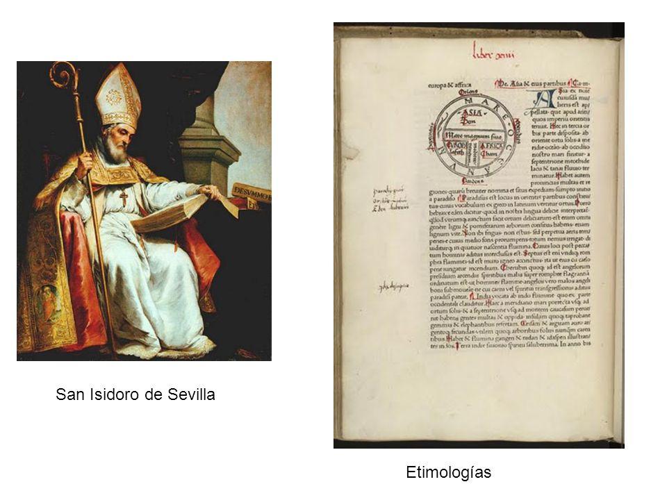 San Isidoro de Sevilla Etimologías
