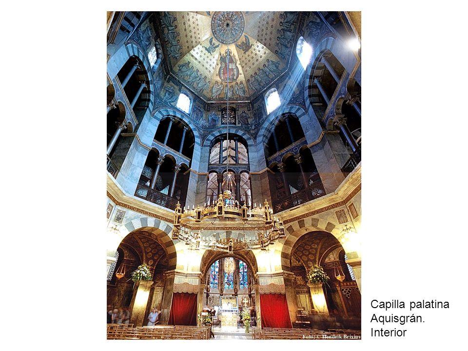 Capilla palatina Aquisgrán. Interior