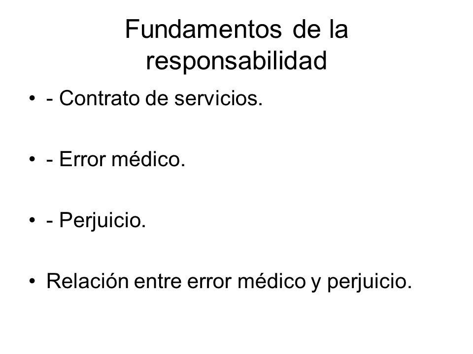 Fundamentos de la responsabilidad - Contrato de servicios.