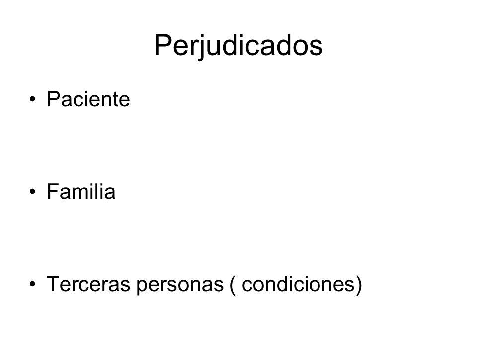 Perjudicados Paciente Familia Terceras personas ( condiciones)