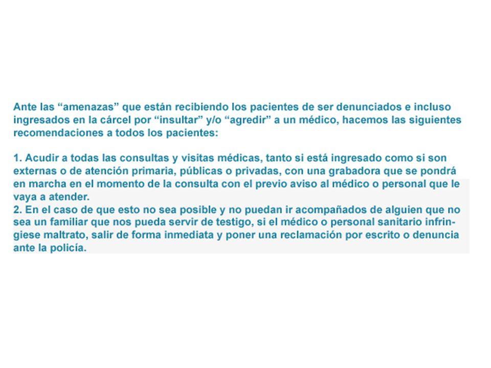 DERECHOS / PRESTACIONES Respeto de intimidad y no discriminación.