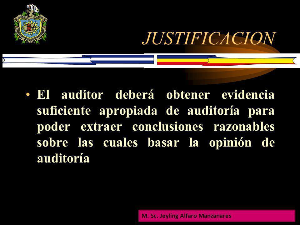 EVIDENCIA DE AUDITORIA EVIDENCIA DE AUDITORIA UNAN- MANAGUA FAREM- ESTELI DEPARTAMENTO DE CIENCIAS ECONOMICAS CÁTEDRA DE AUDITORIA INTEGRAL I M. Sc. J