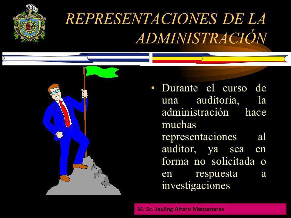 REPRESENTACIONES DE LA ADMINISTRACIÓN Es el reconocimiento de la administración de su responsabilidad por los estados financieros. El auditor deberá o