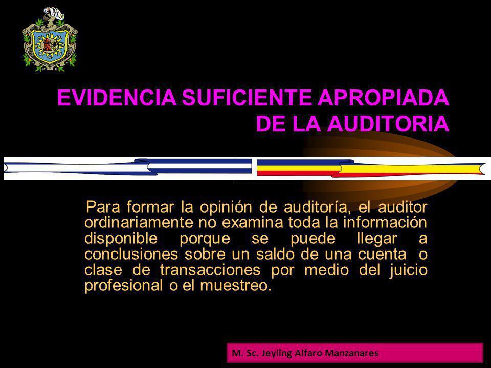 JUSTIFICACION El auditor deberá obtener evidencia suficiente apropiada de auditoría para poder extraer conclusiones razonables sobre las cuales basar