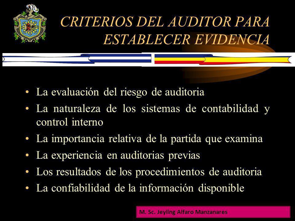 EVIDENCIA SUFIENTE Es la medida de la cantidad de evidencia de auditoria Confiara en información tomada de diversas fuentes, para lograr probar las ll