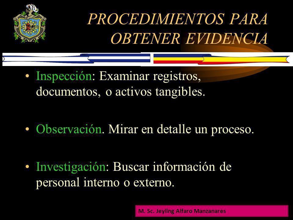 CRITERIOS DEL AUDITOR PARA ESTABLECER EVIDENCIA La evaluación del riesgo de auditoria La naturaleza de los sistemas de contabilidad y control interno