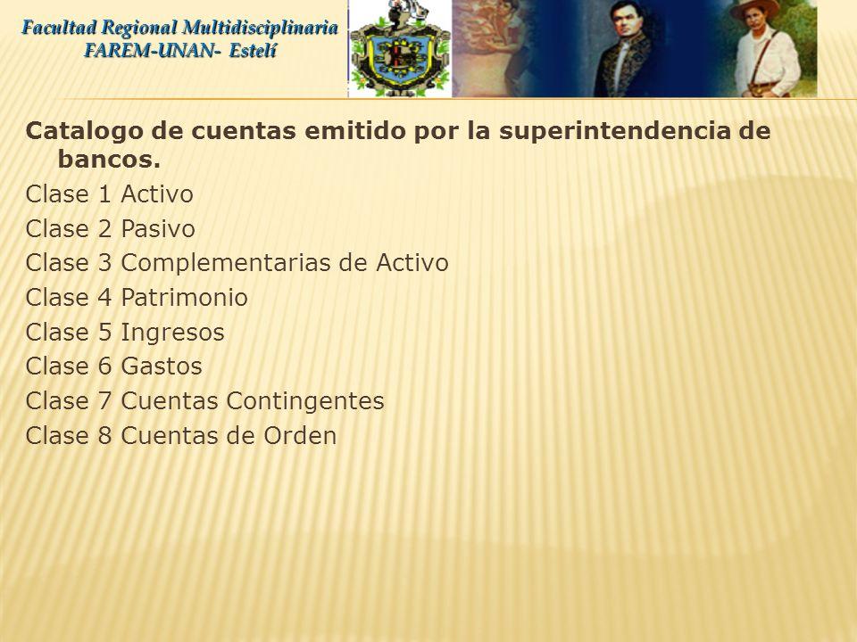 Catalogo de cuentas emitido por la superintendencia de bancos. Propósito: Tiene como propósito fundamental implementar un sistema uniforme de registro