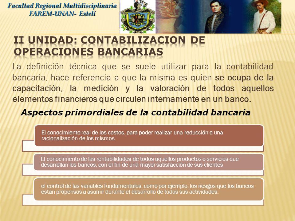 Disponibilidades Facultad Regional Multidisciplinaria FAREM-UNAN- Estelí Depósitos en el B.C.N Cuenta Corriente en el B.C.N.