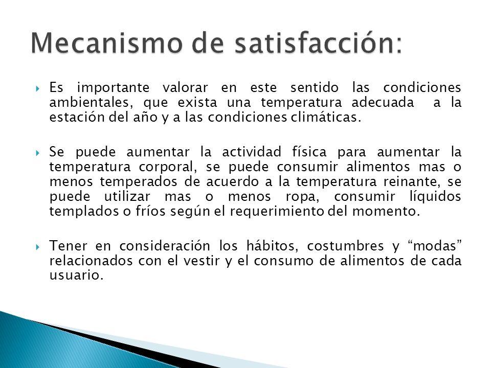 Es importante valorar en este sentido las condiciones ambientales, que exista una temperatura adecuada a la estación del año y a las condiciones climá