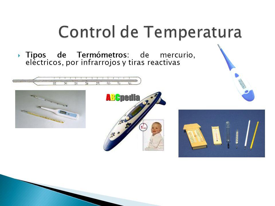Tipos de Termómetros: de mercurio, eléctricos, por infrarrojos y tiras reactivas