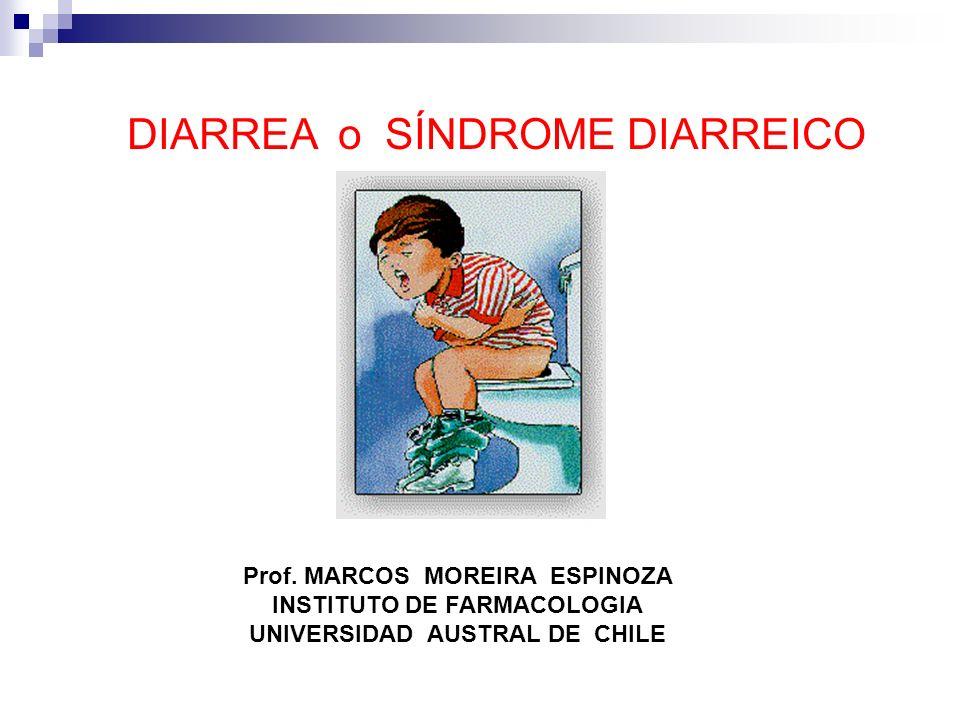 DIARREA o SÍNDROME DIARREICO Prof. MARCOS MOREIRA ESPINOZA INSTITUTO DE FARMACOLOGIA UNIVERSIDAD AUSTRAL DE CHILE