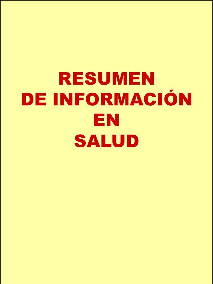 RESUMEN DE INFORMACIÓN EN SALUD