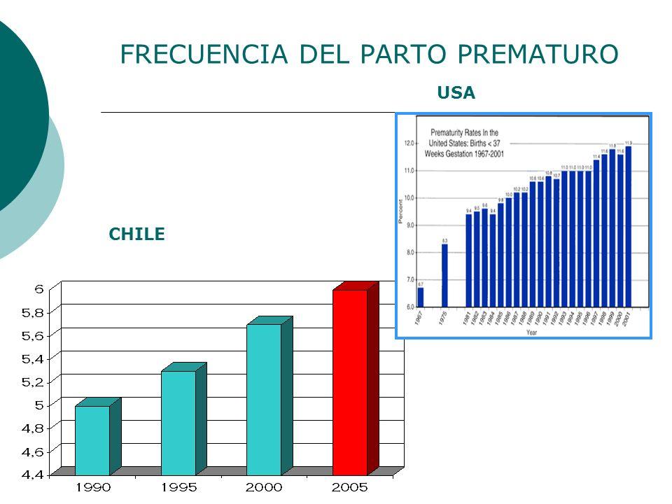 FRECUENCIA DEL PARTO PREMATURO CHILE USA