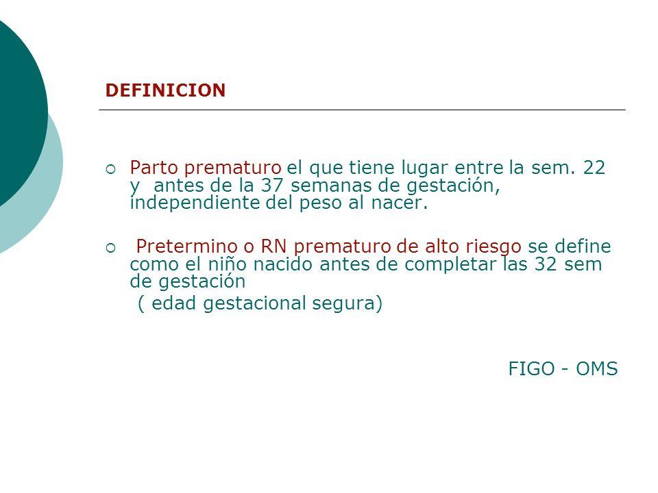 Epidemiología del Parto prematuro. Complicaciones del embarazo.