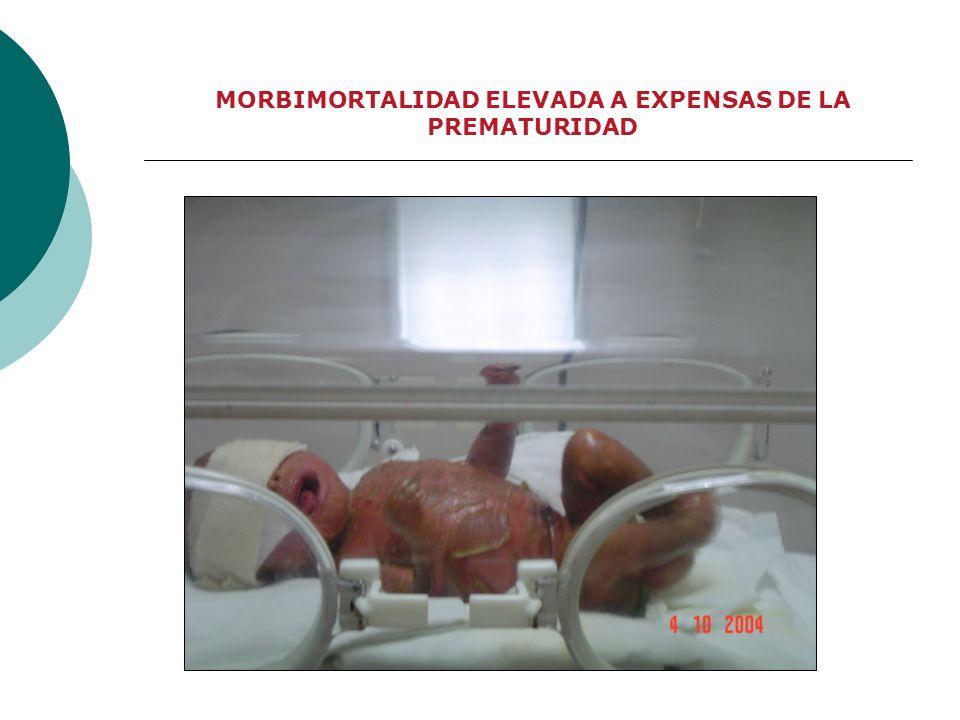 MORBIMORTALIDAD ELEVADA A EXPENSAS DE LA PREMATURIDAD