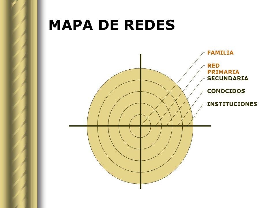 MAPA DE REDES FAMILIA RED PRIMARIA SECUNDARIA CONOCIDOS INSTITUCIONES