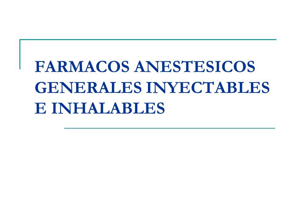 OBJETIVOS FARMACOLOGICO CLINICOS INCONCIENCIA DEL PACIENTE ANALGESIA Ausencia de respuesta motora al estímulo.