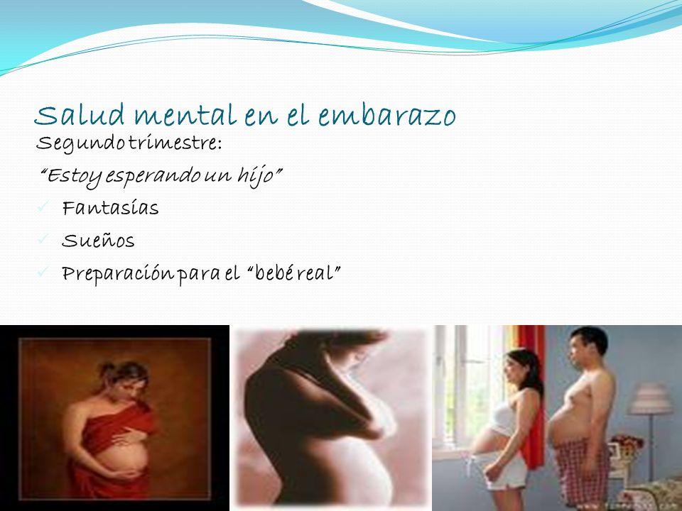 Segundo trimestre: Estoy esperando un hijo Fantasías Sueños Preparación para el bebé real Salud mental en el embarazo