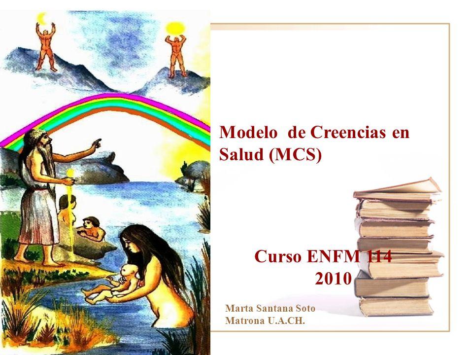 Modelo de Creencias en Salud (MCS) Curso ENFM 114 2010 Marta Santana Soto Matrona U.A.CH.