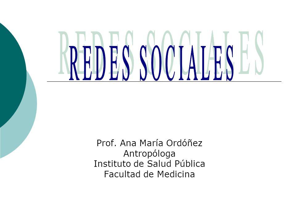 Prof. Ana María Ordóñez Antropóloga Instituto de Salud Pública Facultad de Medicina