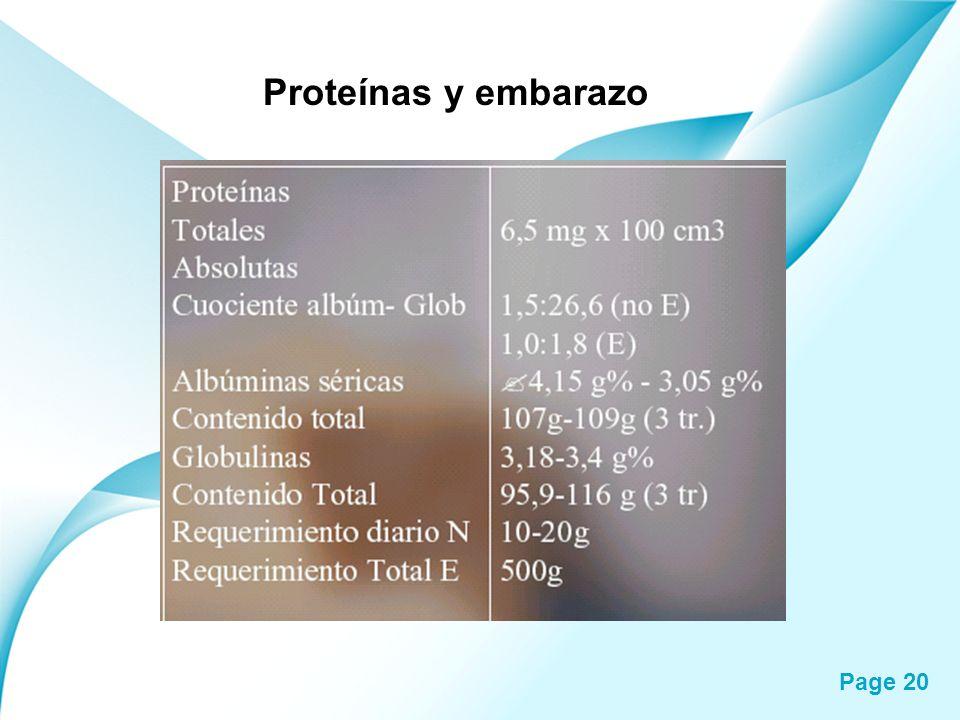 Page 20 Proteínas y embarazo