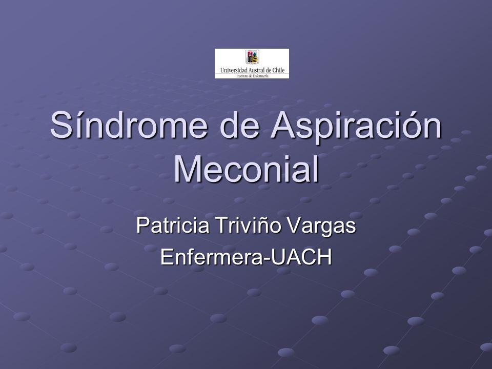 Definición Cuadro de dificultad respiratoria secundario a la aspiración de meconio a la vía aérea ocurrido antes o durante el nacimiento.