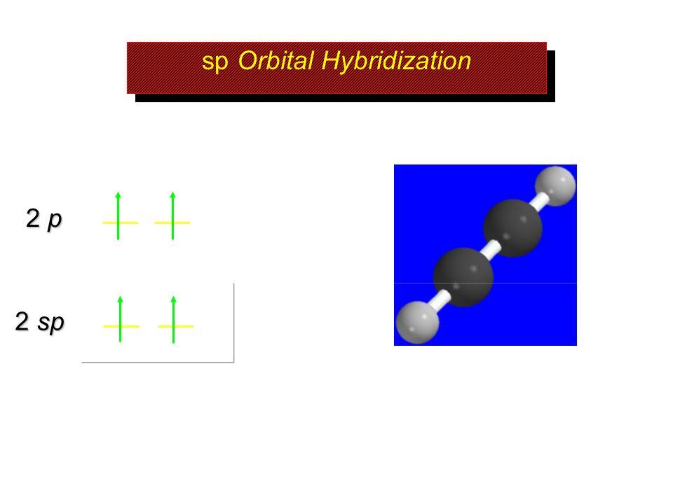 sp Orbital Hybridization 2 sp 2 p