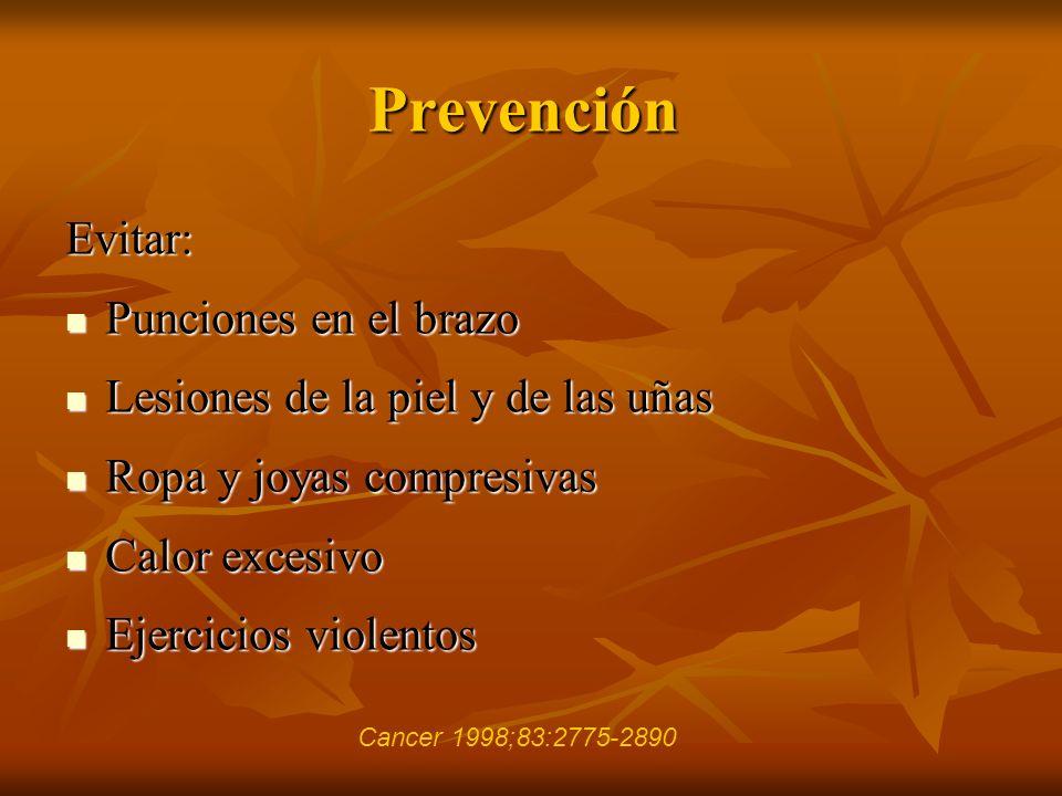 Prevención Evitar: Punciones en el brazo Punciones en el brazo Lesiones de la piel y de las uñas Lesiones de la piel y de las uñas Ropa y joyas compre