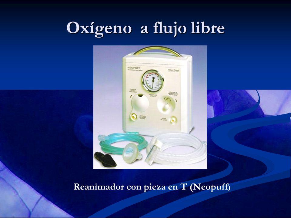 Oxígeno a flujo libre Reanimador con pieza en T (Neopuff )