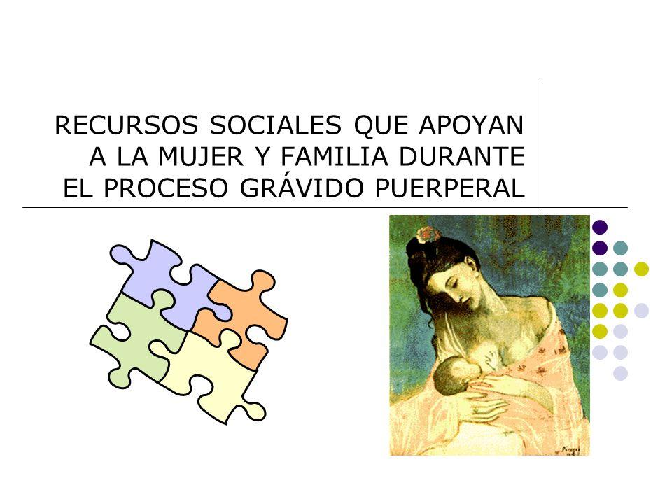RECURSOS SOCIALES QUE APOYAN A LA MUJER Y FAMILIA DURANTE EL PROCESO GRÁVIDO PUERPERAL