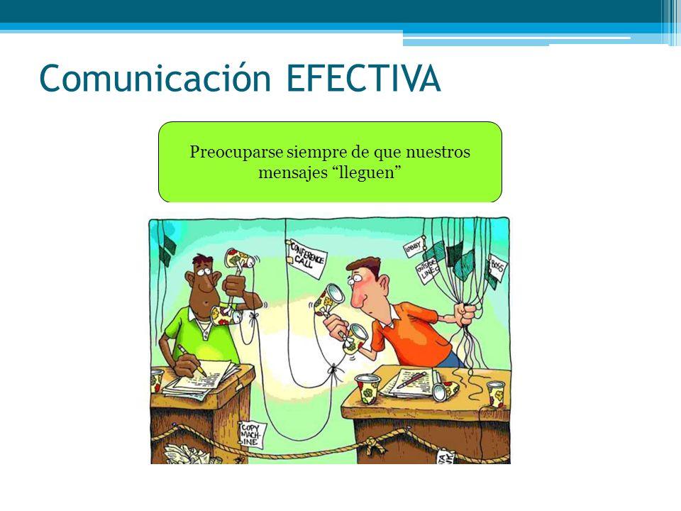 Comunicación EFECTIVA Preocuparse siempre de que nuestros mensajes lleguen