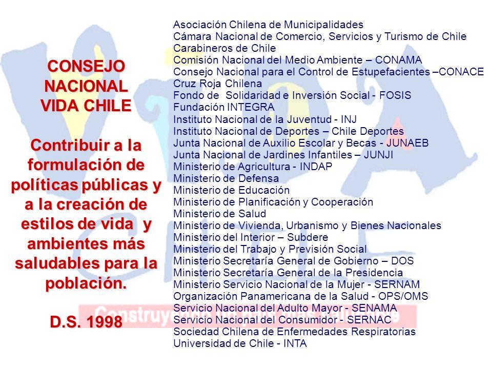 Asociación Chilena de Municipalidades Cámara Nacional de Comercio, Servicios y Turismo de Chile Carabineros de Chile Comisión Nacional del Medio Ambie