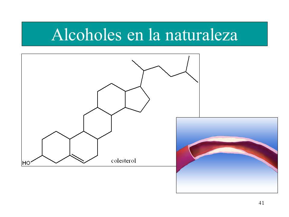 41 Alcoholes en la naturaleza