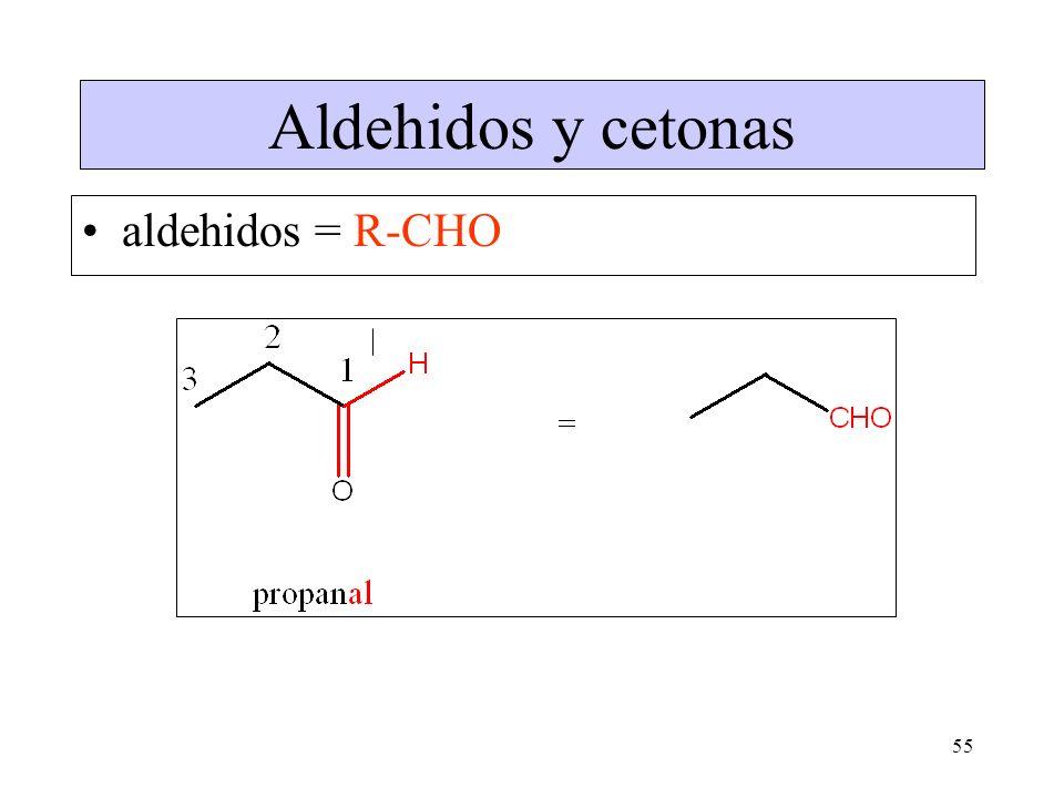 55 Aldehidos y cetonas aldehidos = R-CHO