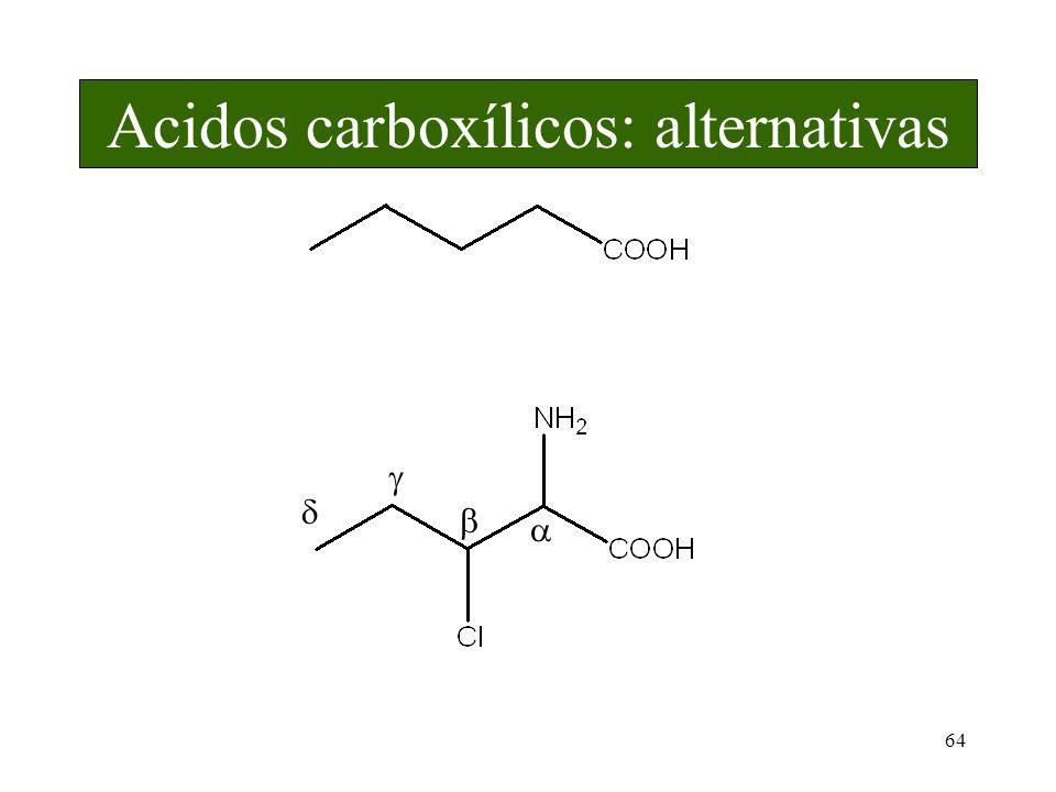 64 Acidos carboxílicos: alternativas