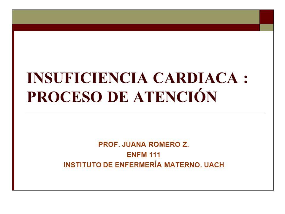 INSUFICIENCIA CARDIACA : PROCESO DE ATENCIÓN PROF.