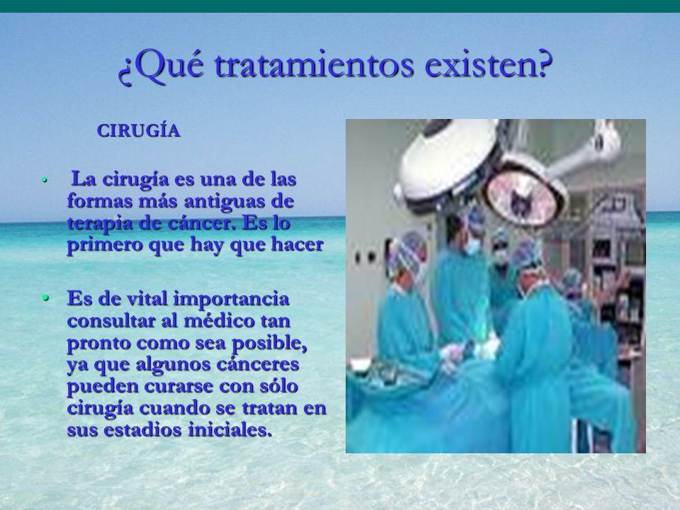 CIRUGÍA CIRUGÍA La cirugía es una de las formas más antiguas de terapia de cáncer. Es lo primero que hay que hacer La cirugía es una de las formas más