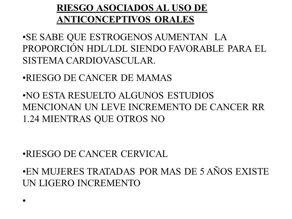 SE SABE QUE ESTROGENOS AUMENTAN LA PROPORCIÓN HDL/LDL SIENDO FAVORABLE PARA EL SISTEMA CARDIOVASCULAR. RIESGO DE CANCER DE MAMAS NO ESTA RESUELTO ALGU