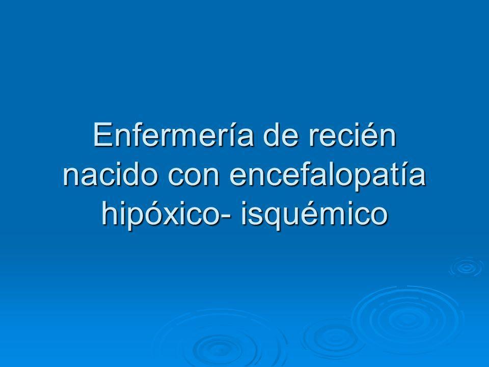 Definición Manifestación clínica de la afectación del SNC secundario a asfixia neonatal.