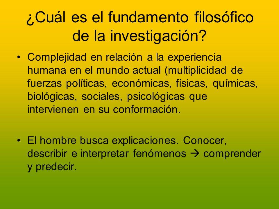 ¿Cuál es el fundamento filosófico de la investigación.