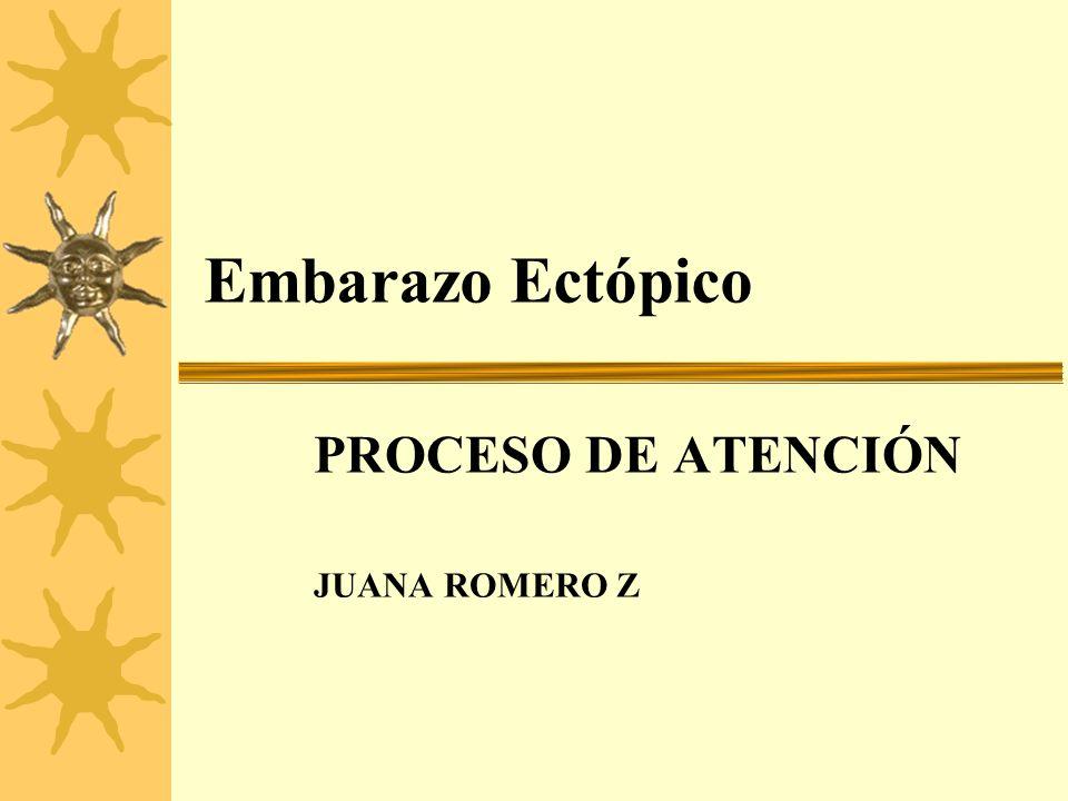 Embarazo Ectópico PROCESO DE ATENCIÓN JUANA ROMERO Z