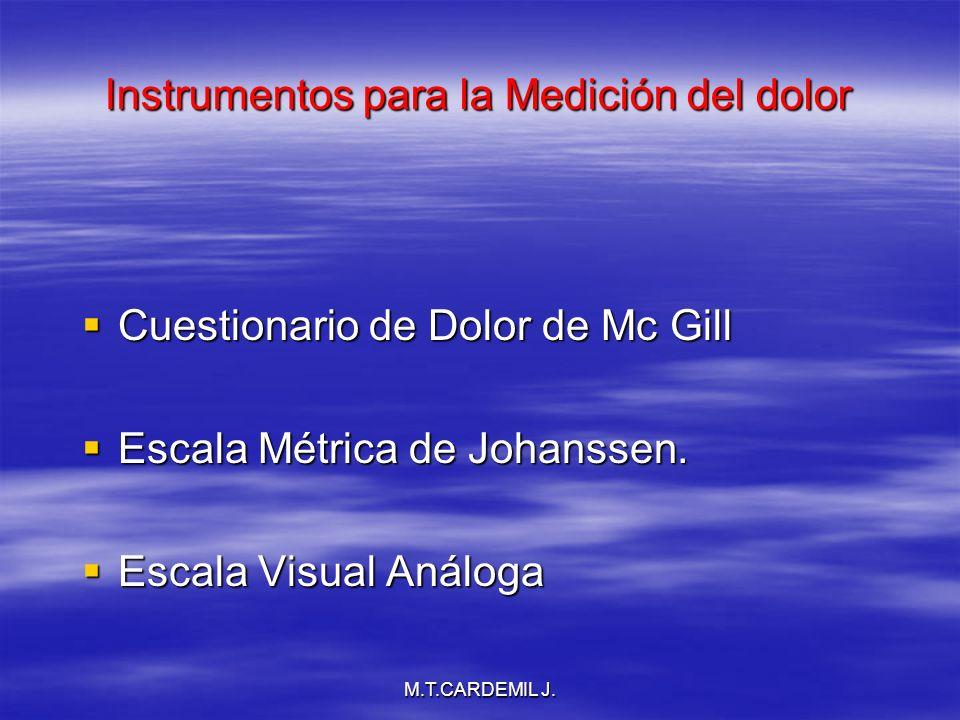M.T.CARDEMIL J.50 40 30 20 10 0 Lumbago Cr Sd clínicos Causalgia Extr.