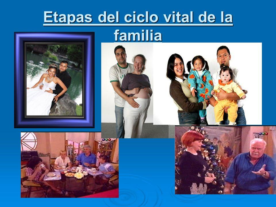Ciclo vital Familiar y Crisis Normativas Las familias cambian en su forma y función a lo largo de su ciclo vital.