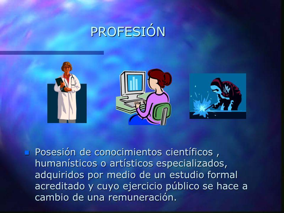 ¿ Quién es un Profesional.