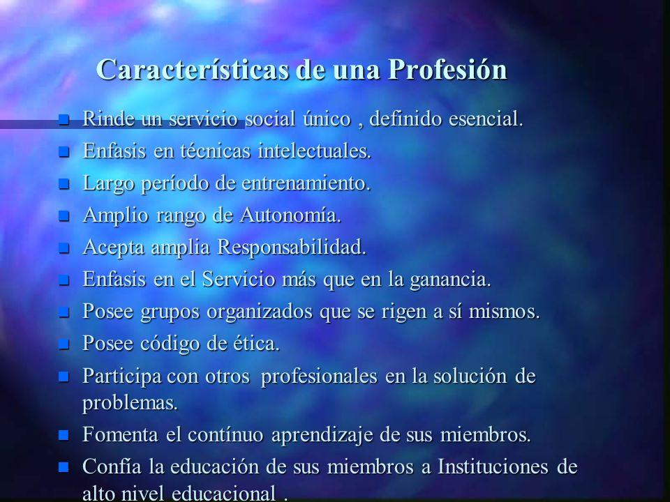 ¿ Qué características debe poseer el Profesional? Perfil Profesional