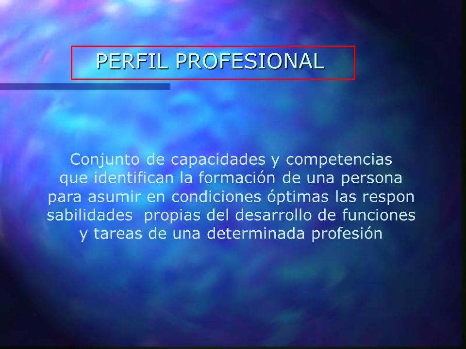 CARACTERÍSTICAS PERFIL PROFESIONAL Los perfiles profesionales evolucionan y cambian según la demanda ocupacional y el mercado de trabajo, por tanto son dinámicos.