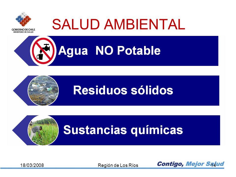18/03/2008Región de Los Ríos14 SALUD AMBIENTAL