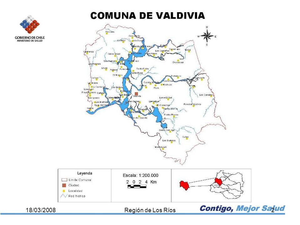Otros problemas de salud 18/03/2008Región de Los Ríos13