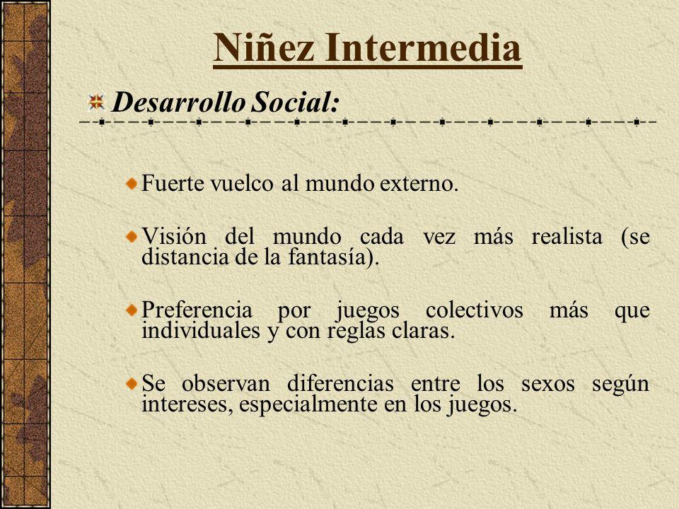 Desarrollo Social: Fuerte vuelco al mundo externo.