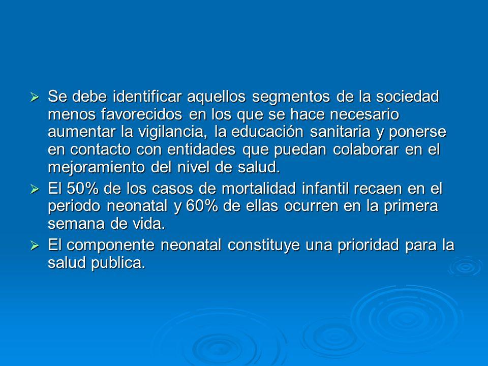 En Chile está ocasionada en primer lugar por las malformaciones congénitas cardiacas, trastornos relacionados con la duración de la gestación y el crecimiento fetal, síndrome de muerte súbita, dificultad respiratoria del recién nacido, malformaciones del sistema nervioso y neumonías.